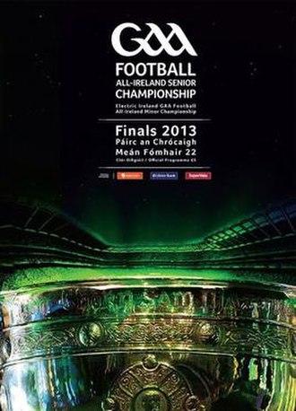 2013 All-Ireland Senior Football Championship Final - Image: 2013 All Ireland Senior Football Championship Final programme