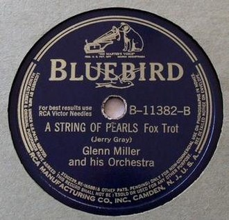 A String of Pearls (song) -  1941 RCA Bluebird 78, B-11382-B.