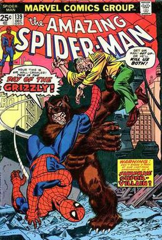 Grizzly (comics) - Image: Amazing Spider Man 139