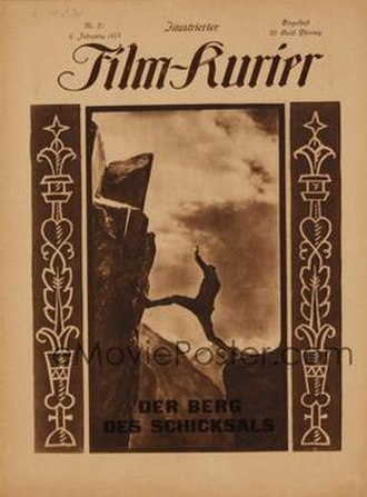 Mountain of Destiny - Image: Berg des Schicksals 1924 Poster