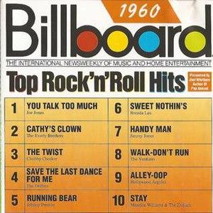 Billboard Top Rock'n'Roll Hits: 1960 - Image: Billboard Top Rock'n'Roll Hits 1960