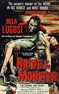 <i>Bride of the Monster</i> 1955 American science fiction horror film by Ed Wood