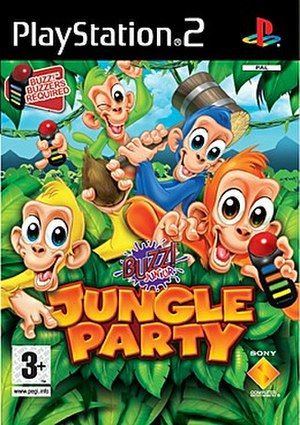 Buzz! - Cover of Buzz! Junior: Jungle Party, the first game in the Buzz! Junior series