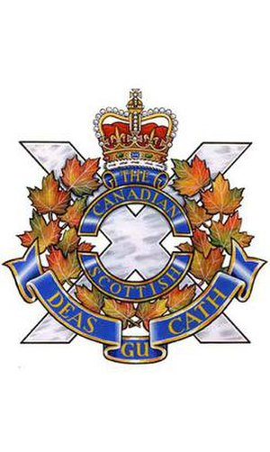 The Canadian Scottish Regiment (Princess Mary's) - Image: C Scot R cap badge