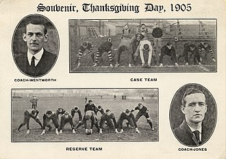 1905 Case football team - The annual rivalry game featured coaches Joseph Wentworth and Paul Jones