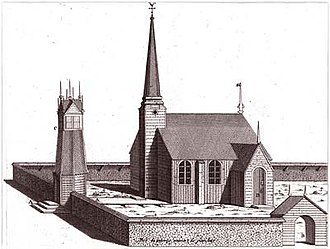 Meänmaa - Tornio Church. Drawing by Outhier.