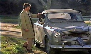 "Columbo (character) - The Peugeot 403 Cabriolet used in filming. Peter Falk and Dog in Season 7 Episode 4 titled ""How to Dial a Murder"" that aired on April 15, 1978"