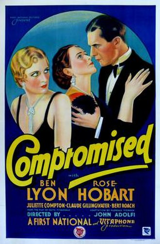 Compromised (1931 film) - Theatrical poster
