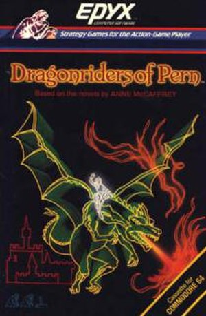 Dragonriders of Pern (video game) - C64 cassette version cover art