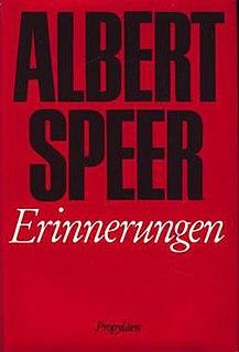 <i>Inside the Third Reich</i> 1969 memoir by Albert Speer