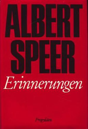 Inside the Third Reich - Cover of the first edition
