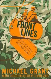 Front Lines book cover by Michael Grant ISBN 9781405273824.jpg