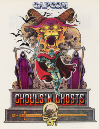 Ghouls 'n Ghosts - Promotional flyer for the original arcade iteration of Ghouls 'n Ghosts