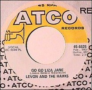 Go Go Liza Jane - Image: Go Go Liza Jane (Levon and the Hawks single cover art)
