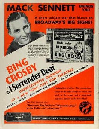 I Surrender Dear (1931 film) - Image: I Surrender Dear (1931 film) advert