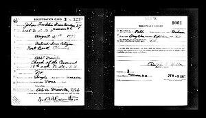 John Franklin Bruce Carruthers - Image: John Franklin Bruce Carruthers (draft registration, 1917)