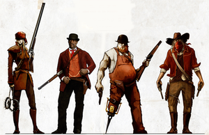 Lead and Gold: Gangs of the Wild West - Lead and Gold character classes were designed from American frontier archetypes.