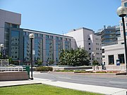 UCLA Medical Plaza is near the main entrance to the campus