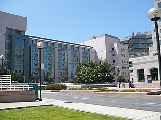 David Geffen School of Medicine at UCLA - UCLA Medical Plaza is near the main entrance to the campus