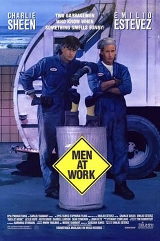 Men at Work (1990 film) - Theatrical release poster