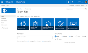 SharePoint Online user interface
