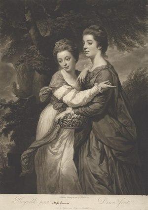 Emma Crewe - Image: Miss Emma Crewe and Miss Elizabeth Crewe mezzotint