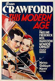 <i>This Modern Age</i> 1931 film by Nick Grinde