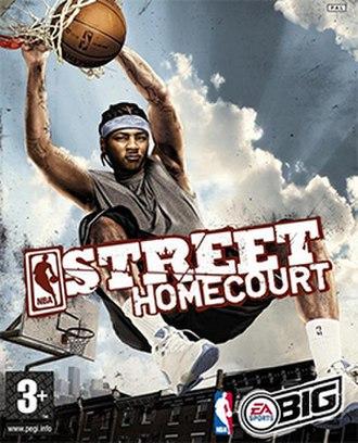NBA Street Homecourt - European cover featuring Carmelo Anthony