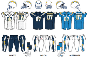 2017 Los Angeles Chargers season - Image: NFL Chargers uniforms