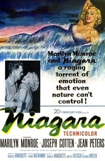 <i>Niagara</i> (film) 1953 thriller film-noir directed by Henry Hathaway