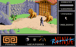The Last Ninja - Screenshot of The Wilderness (Amiga)