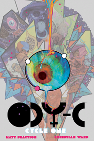 ODY-C - Cover of the ODY-C Cycle One hardcover collected edition.