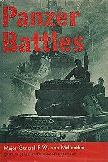 <i>Panzer Battles</i> book by Friedrich von Mellenthin