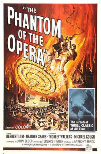 The Phantom of the Opera (1962 film) - UK theatrical release poster