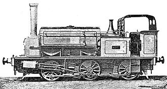 "Garstang and Knot-End Railway - Farmer's Friend (or ""Pilling Pig""), an 1875 Hudswell Clarke 0-6-0ST and the third locomotive on the line"