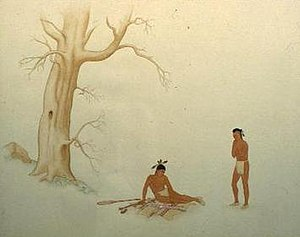 Iroquois - Meeting of Hiawatha and Deganawidah by Sanford Plummer