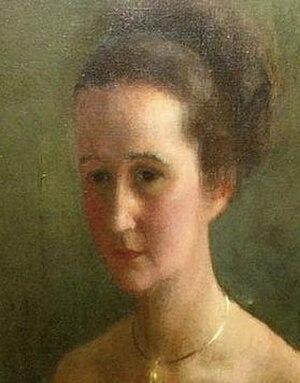 Prudence Glynn - Prudence Glynn, portrait by Deirdre Daines