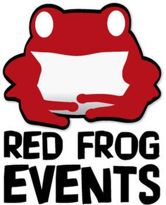 Red Frog Events - Image: Red Frog Events Logo vert
