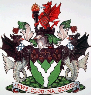 District of Rhondda - arms of Rhondda Borough Council