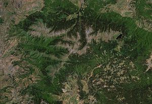 Rila as seen from the space