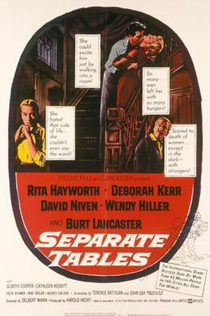 Separate Tables (film) - Original film poster