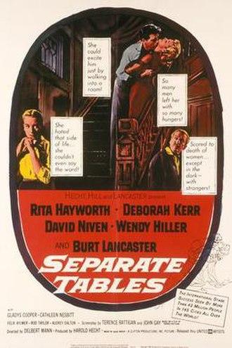 Separate Tables (film) - Original film poster