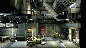Shadow Complex - Shadow Complex uses a 2.5D design, with the player moving about levels like a side-scrolling video game but required to dispatch enemies in three dimensions.