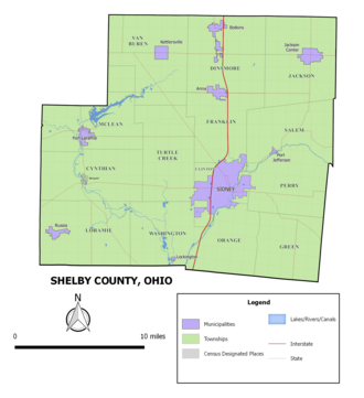 Shelby County, Ohio - Municipalities and townships of Shelby County