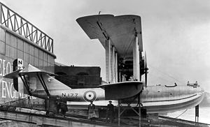 Felixstowe F.5 - Short S.2 prototype (N177) at Short Brothers Works, Rochester, Kent, 1924.
