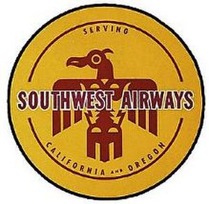 Pacific Air Lines - Southwest Airways 1940s logo