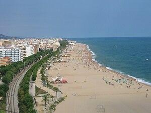 Calella - Image: Spain calella beach