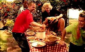 Sunday Morning (No Doubt song) - The band gets into a food fight in the video.