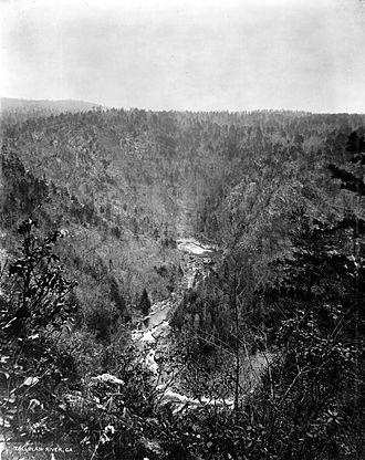 Tallulah Gorge - Tallulah Gorge, circa 1894.
