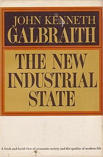 <i>The New Industrial State</i> 1967 book by John Kenneth Galbraith